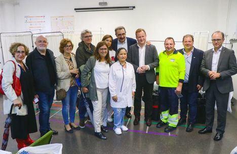 El Gobierno regional agradece a los profesionales del SESCAM su trabajo en el Puesto de Atención a Urgencias Médicas del Ferial de Albacete