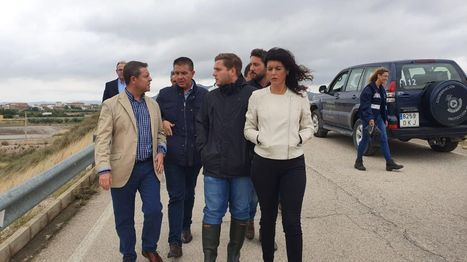 Santiago Cabañero visita las zonas afectadas por el temporal y reitera el compromiso de la Diputación de Albacete con ellas
