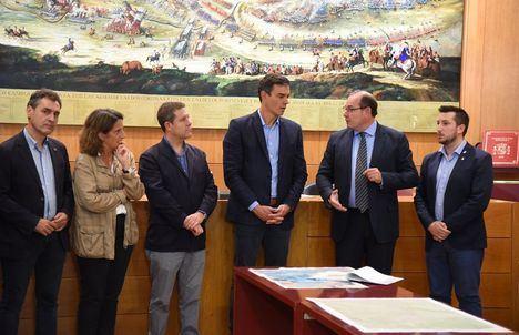 Pedro Sanchez y Page han visitado a última hora de la mañana la localidad albaceteña de Almansa