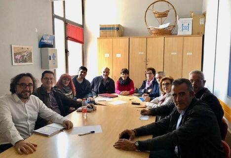 La concejala de Barrios y Pedanías, Ana Albaladejo, ha mantenido hoy una reunión de trabajo con las alcaldesas y alcaldes de las nueve pedanías