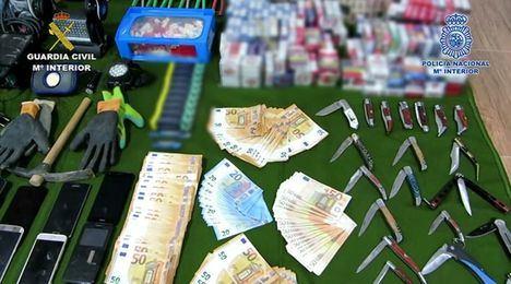 La Guardia Civil y la Policía detienen a siete personas por la comisión de 63 delitos de robo cometidos en varias provincias