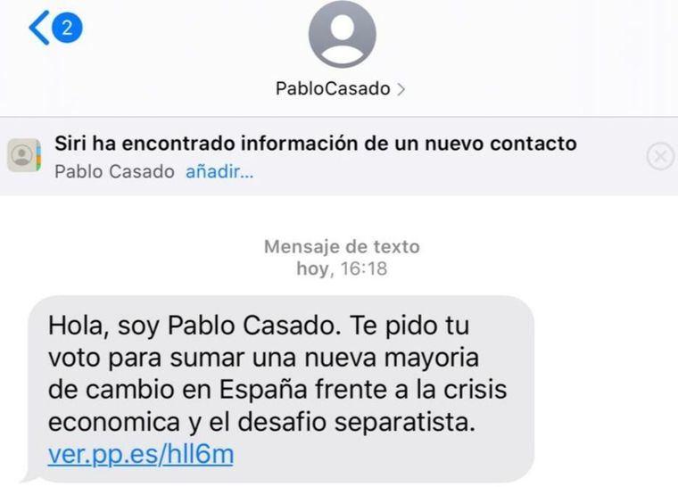 Expediente sancionador al PP por los SMS de Pablo Casado con propaganda electoral denunciados por FACUA