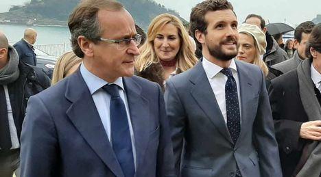 Pablo Casado fulmina a Alfonso Alonso y coloca a Carlos Iturgaiz como candidato de PP y Ciudadanos en las elecciones vascas