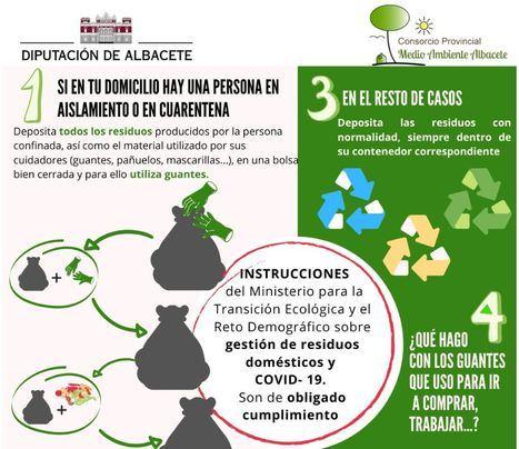 La Diputación traslada a la ciudadanía las recomendaciones en materia de gestión de los residuos domésticos durante el Estado de Alarma