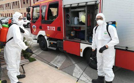 El SEPEI se emplea a fondo en labores de desinfección de infraestructuras y edificios públicos en varios municipios de la provincia