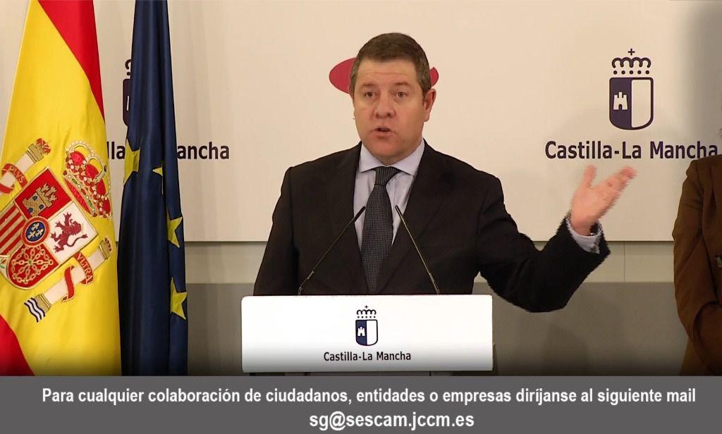 Page presume del personal sanitario de Castilla-La Mancha y agradece la