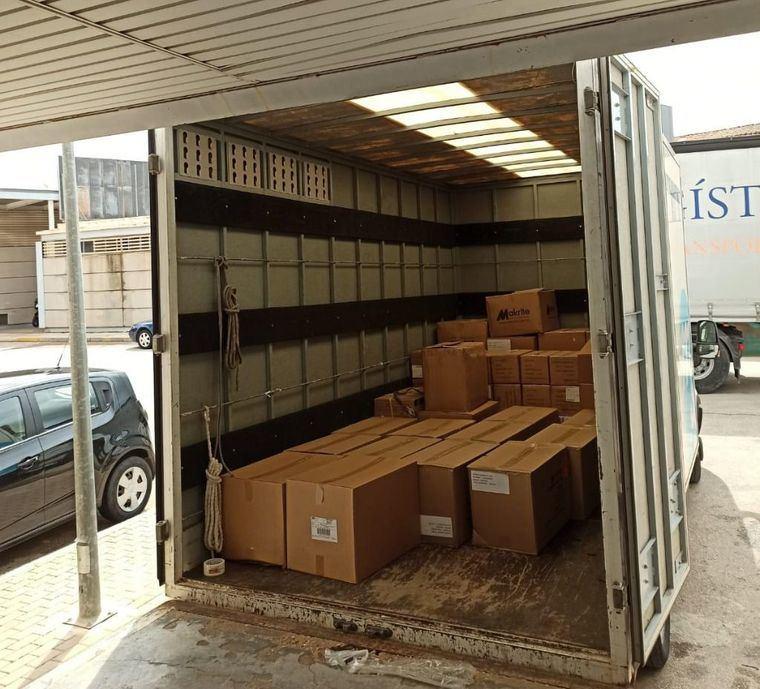 La provincia de Albacete recibe un nuevo envío de artículos de protección para los profesionales de los centros sanitarios