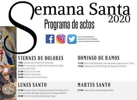 Programación oficial de Semana Santa de Hellín organizada por la Asociación de Peñas de Tamborileros, Junta de Cofradías y otras asociaciones