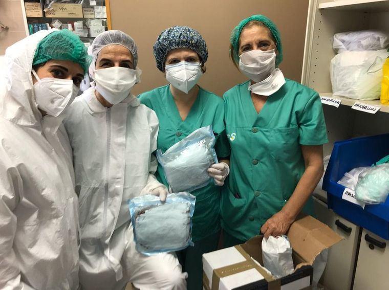 La Real Asociación Virgen de Los Llanos se suma a la donación de material para los sanitarios de Albacete