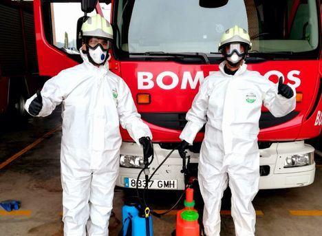 Los bomberos del SEPEI de Albacete cierran una nueva semana de intenso trabajo en la lucha común frente al COVID-19