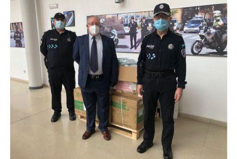 El Ayuntamiento de Albacete recibe una donación de 20.000 mascarillas de Nanchang, ciudad de China con la que está hermandada