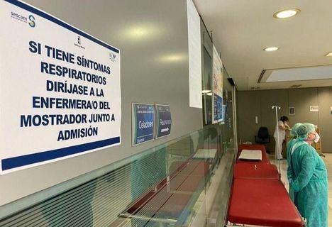 La sala de espera habilitada en Albacete para atender repunte de casos cierra al aliviarse la presión asistencial