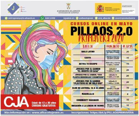 El Ayuntamiento de Albacete ofrece diez cursos online gratuitos a través del programa Pillaos 2.0 del Centro Joven de Albacete