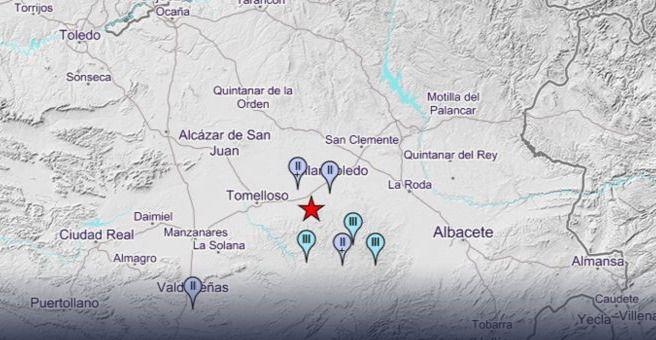 ÚLTIMA HORA.- Nuevo terremoto de magnitud 2,0° a 7 kilómetros de profundidad al sur de Villarrobledo en Albacete a las 17:23h. Ya son 4 en los últimos días en la zona