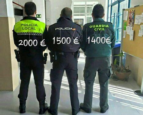 El Consejo de Ministros habilita el pago del tercer tramo de la equiparación salarial de Policía Nacional y Guardia Civil