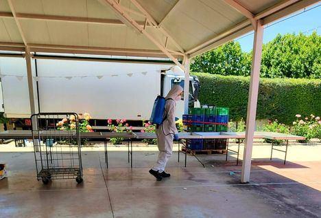 37 localidades han recibido esta semana la ayuda de la Diputación para la desinfección posterior a la celebración de sus mercadillos municipales