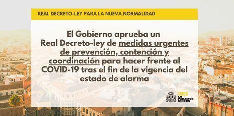 El Gobierno aprueba el real decreto que establece las medidas que regirán en la nueva normalidad que mantiene la obligatoriedad de las mascarillas