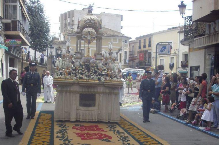 El recorrido del Corpus en Hellín, sin protagonistas