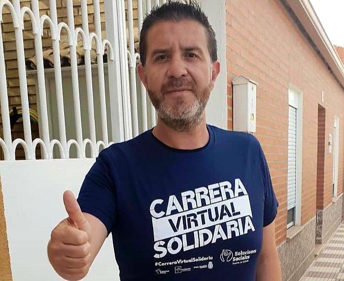 Santi Cabañero anima a sumarse a la cita que la provincia de Albacete tiene con las Carreras Virtuales Solidarias impulsadas por la Fundación Eurocaja Rural