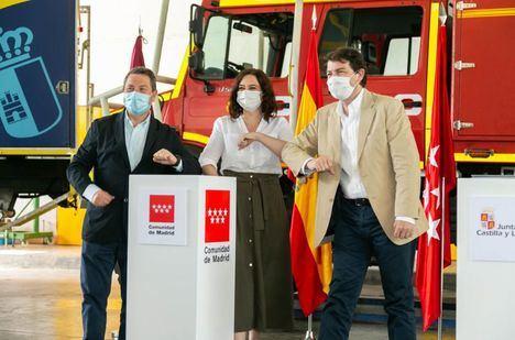 Castilla-La Mancha, Madrid y Castilla-León crearán una zona de actuación conjunta, de 5 km a cada lado, ante incendios forestales