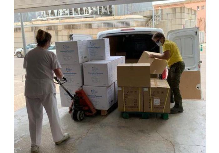 Los hospitales de la provincia de Albacete reciben un nuevo envío de material de artículos de protección