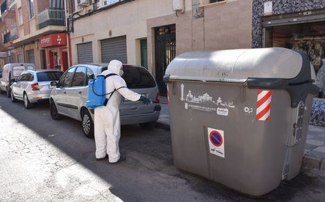 El Servicio de Limpieza de Albacete intensifica su trabajo y retoma las tareas de desinfección para contribuir a la prevención de rebrotes del virus Covid-19