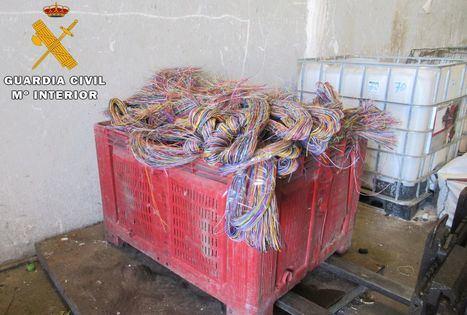 Sucesos.- Detenidas 4 personas e investigadas otras 2 por robar una tonelada de cable de cobre en Albacete y Alicante