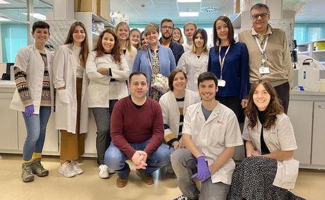 Foto:Llanos Moraga y Antonio González, impulsores de la Fundación Amigos de Nono, visitaron el Hospital Sant Joan de Déu Barcelona para firmar el convenio de colaboración