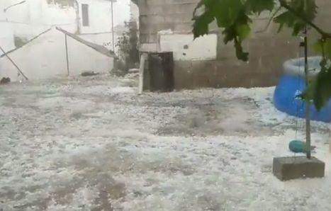 Una tormenta de granizo daña de nuevo los cultivos de Molinicos y otras poblaciones de la sierra de Albacete