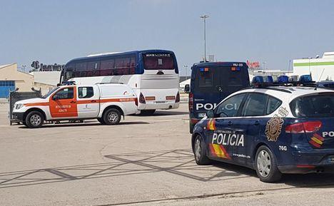 Trasladan a la Institución Ferial del IFAP a los temporeros del asentamiento de Albacete