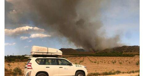 ÚLTIMA HORA.- Estabilizado el fuego en Agramón, donde continúa trabajando una veintena de medios