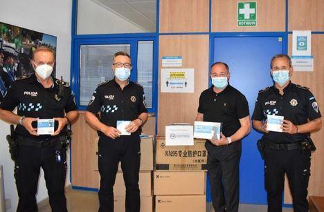 La Policía Local de Albacete ha recepcionado los lotes de mascarillas enviadas por la Federación Española de Municipios y Provincias (FEMP)