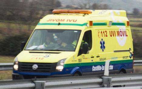 Sucesos.- Trasladan al hospital a un hombre de 33 años herido por arma de fuego en La Roda (Albacete)