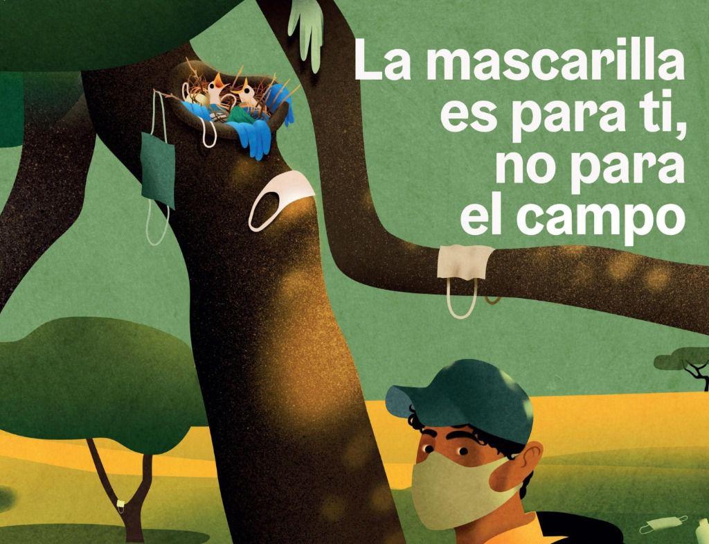 La Diputación de Albacete se suma a la campaña 'Recuerdos inolvidables. La mascarilla es para ti, no para la naturaleza' con el fin de sensibilizar y promover un uso responsable