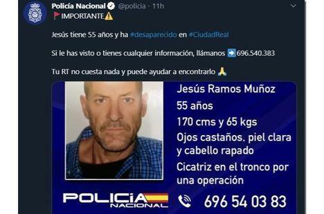 Sucesos.- La Policía Nacional investiga la desaparición de un hombre de 55 años en Ciudad Real desde hace un mes y medio