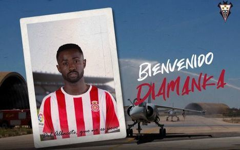 Diamanka, nuevo jugador del Albacete que llega cedido procedente del Girona