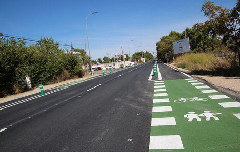 El Ayuntamiento de Albacete remata la construcción de un nuevo tramo de carril bici de 1.500 metros en la carretera de Jaén