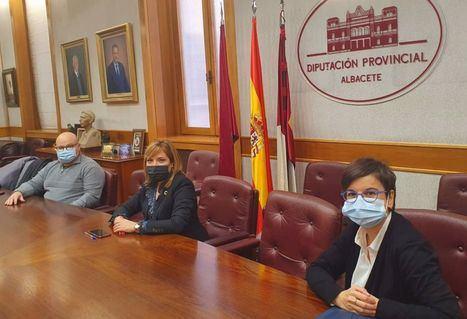 La Diputación Albacete valora nuevas vías de colaboración con Fundación 'El Sembrador' Cáritas en este contexto de pandemia