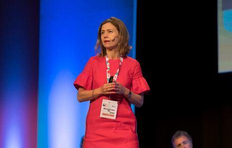 Foto: María Jesús Lamas, durante el 62º Congreso Nacional de la SEFH celebrado en Madrid.