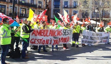 Las plantillas de transporte sanitario de Albacete, Ciudad Real y Guadalajara reanudan el lunes la huelga indefinida