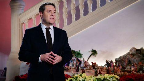 """El presidente García-Page aboga por la unidad del país y pide realizar un """"esfuerzo colectivo"""" frente al virus y por el crecimiento en igualdad, en el tradicional mensaje de Año Nuevo"""