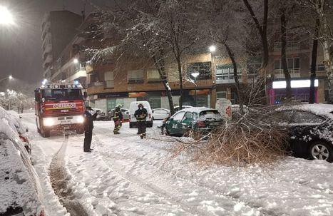 La Policía Local de Albacete está recibiendo numerosos avisos esta mañana de caídas de toldos, ramas y árboles