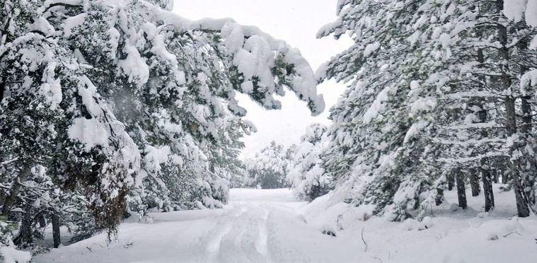 Foto: Carreteras de Nerpio con más de medio metro de nieve.