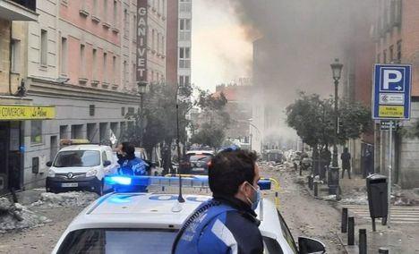 Al menos dos muertos y 8 heridos, uno de gravedad, en la explosión de la calle Toledo en Madrid