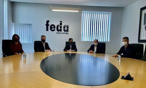 El Equipo de Gobierno del Ayuntamiento se reúne con FEDA para exponer sus líneas del Presupuesto de 2021 y definir los proyectos estratégicos de la ciudad