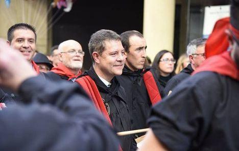 Foto: Page en la tamborada de Hellín. (Archivo).