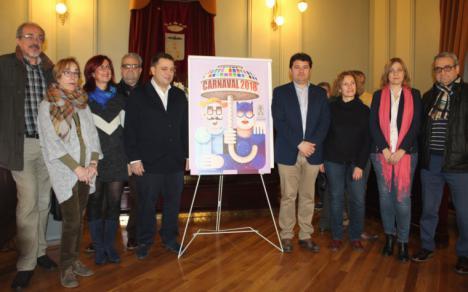 'Carnalvacete' es el ganador del concurso de carteles del Carnaval de Albacete 2018, obra de Juan Diego Ingelmo