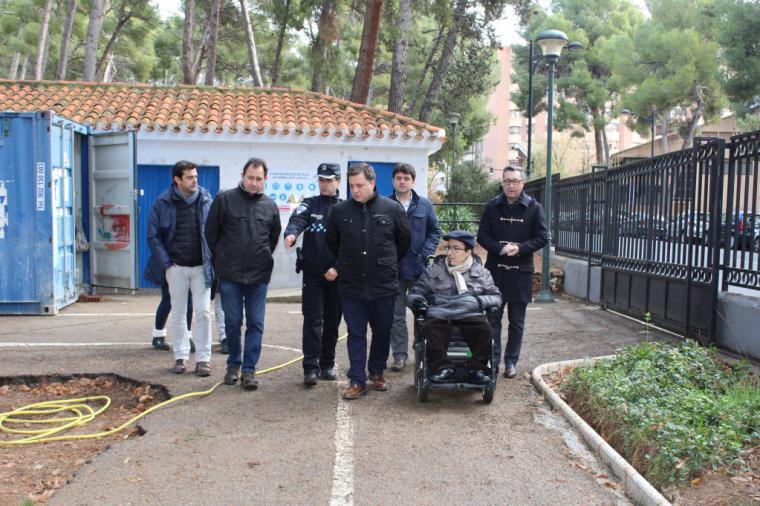 Manuel Serrano asegura que el Parque Infantil de Tráfico ganará en seguridad, accesibilidad y modernidad tras las obras del Plan de Empleo