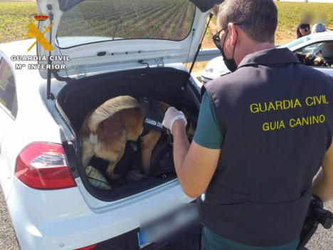 La Guardia Civil detiene a dos personas por un delito contra la salud pública e interviene 1.000 dosis de polen de hachís